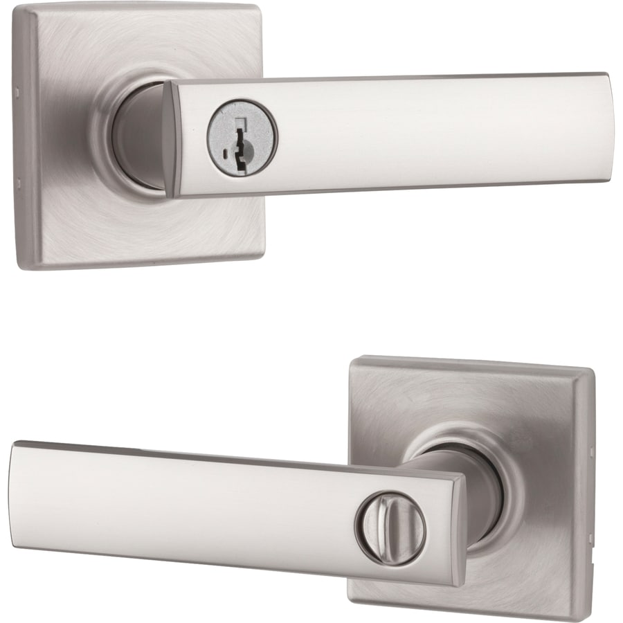 Kwikset Signature Vedani SmartKey Satin Nickel Universal Keyed Entry Door Lever