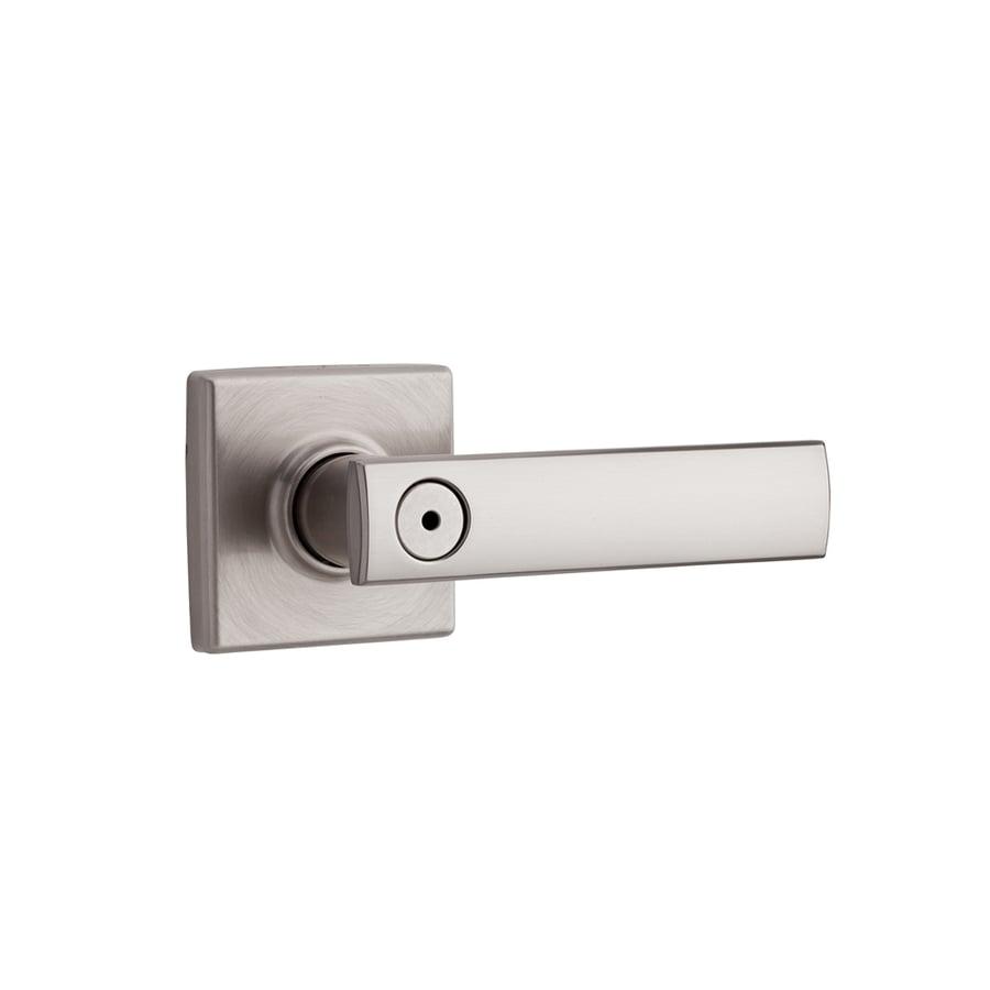 Kwikset Signature Vedani Satin Nickel Turn Lock Privacy Door Lever
