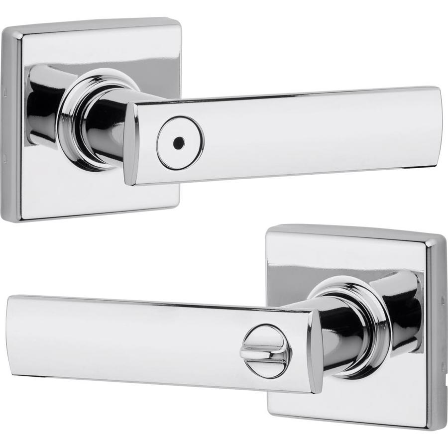 Kwikset Signature Vedani Polished Chrome Turn Lock Privacy Door Lever