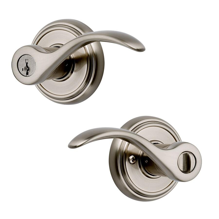Kwikset Prestige Tobin SmartKey Satin Nickel Universal Keyed Entry Door Lever