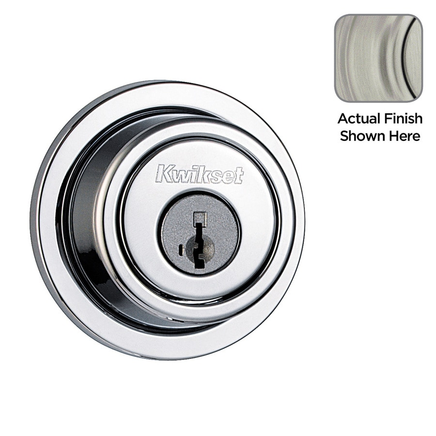 Kwikset Signature Contemporary SmartKey Satin Nickel Single-Cylinder Deadbolt