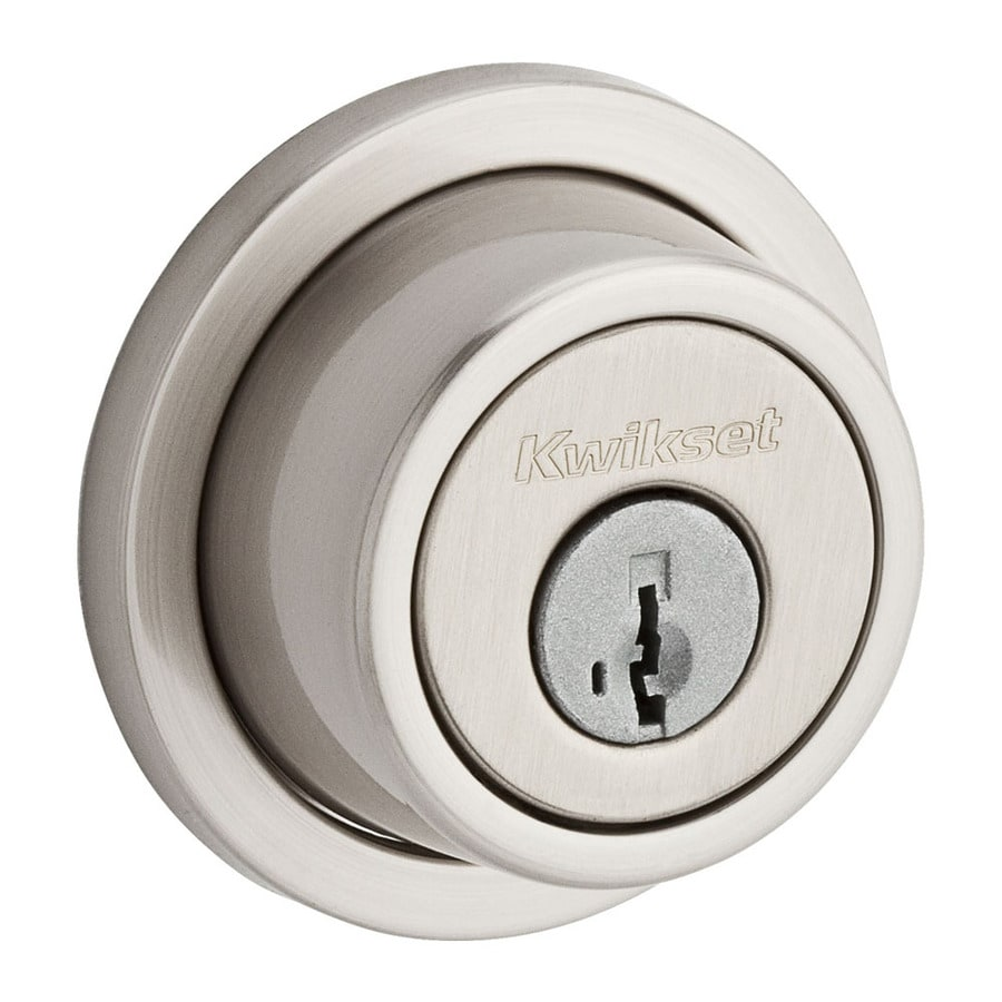 Kwikset Signature Contemporary SmartKey Satin Nickel Double-Cylinder Deadbolt