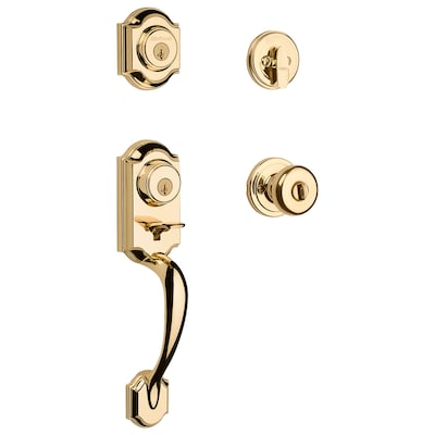 Kwikset Montara Polished Brass Smartkey Single Cylinder
