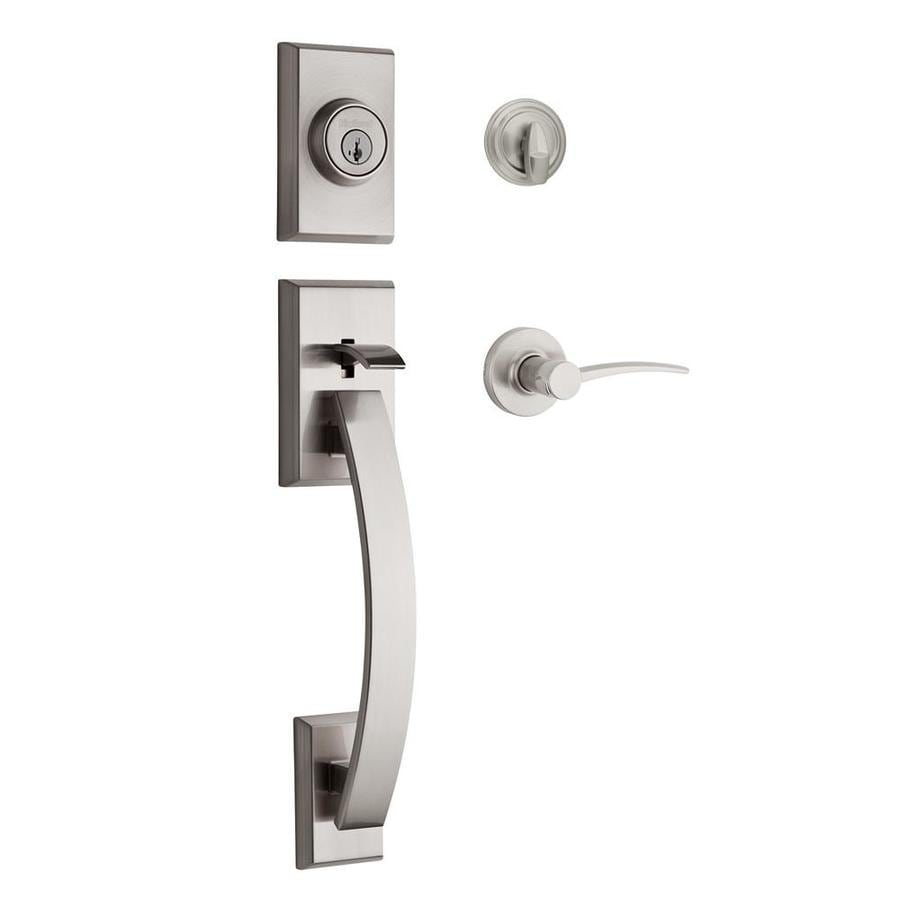 Shop Kwikset Tavaris Satin Nickel Keyed Entry Door