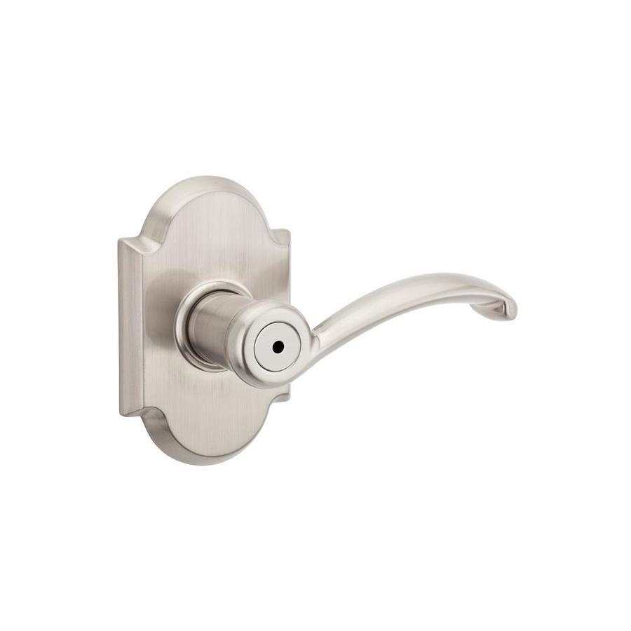 Kwikset Austin Satin Nickel Universal Turn Lock Privacy Door Lever