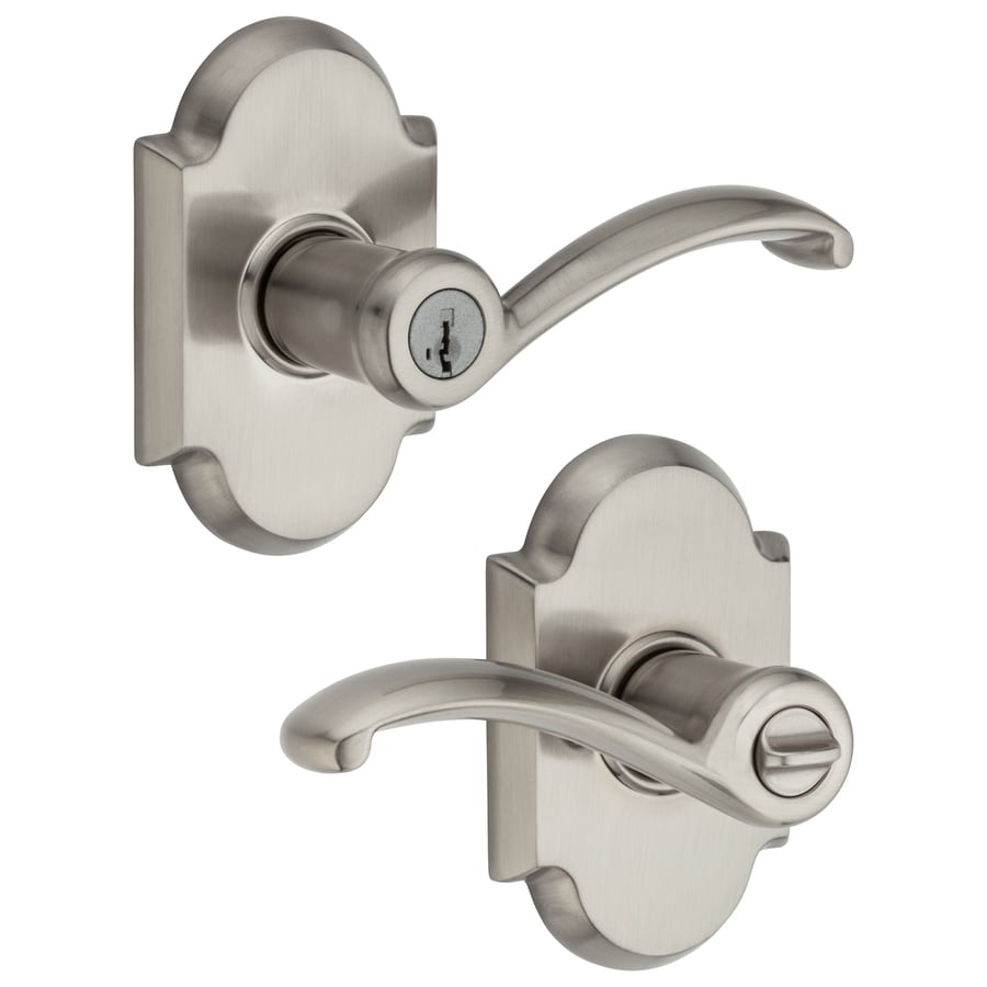 Kwikset Austin Satin Nickel Keyed Entry Door Lever with Smartkey