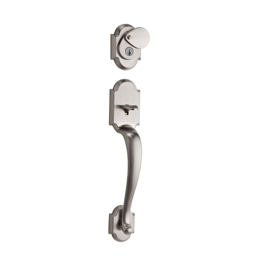 Kwikset Austin Adjustable Satin Nickel Entry Door Exterior Handle