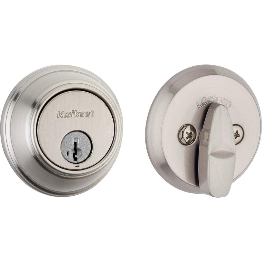 Kwikset 816 Key Control Smartkey Satin Nickel Single-Cylinder Deadbolt