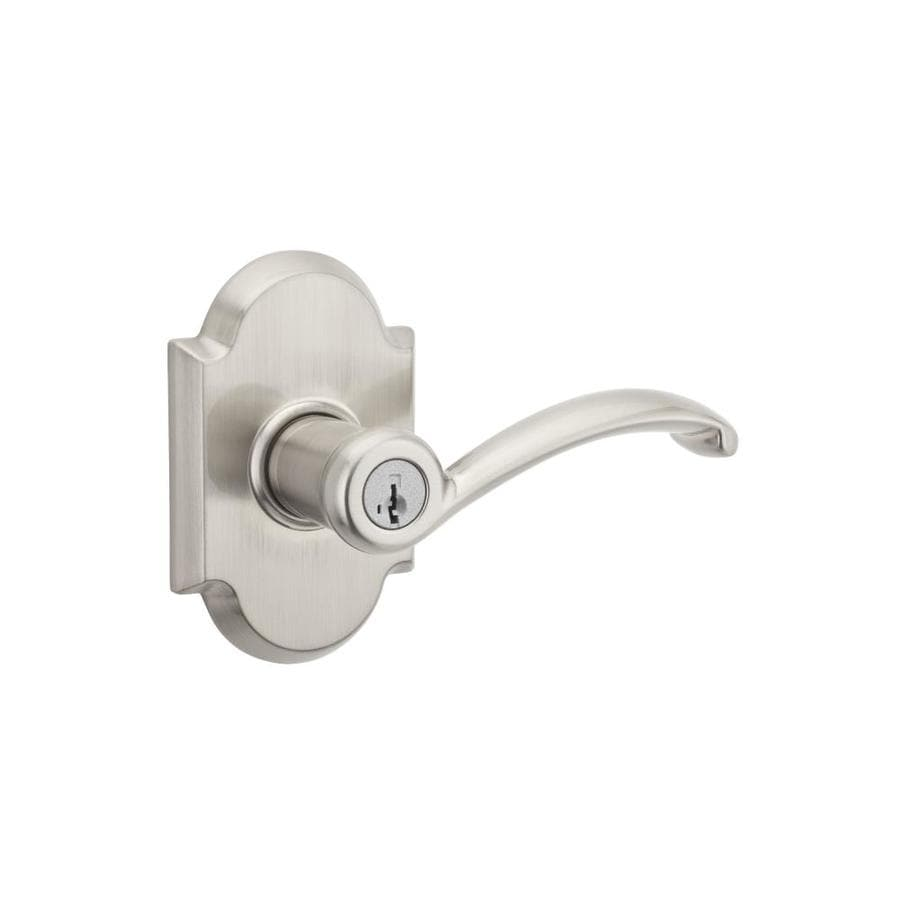 Kwikset Signature Austin SmartKey Satin Nickel Universal Keyed Entry Door Lever