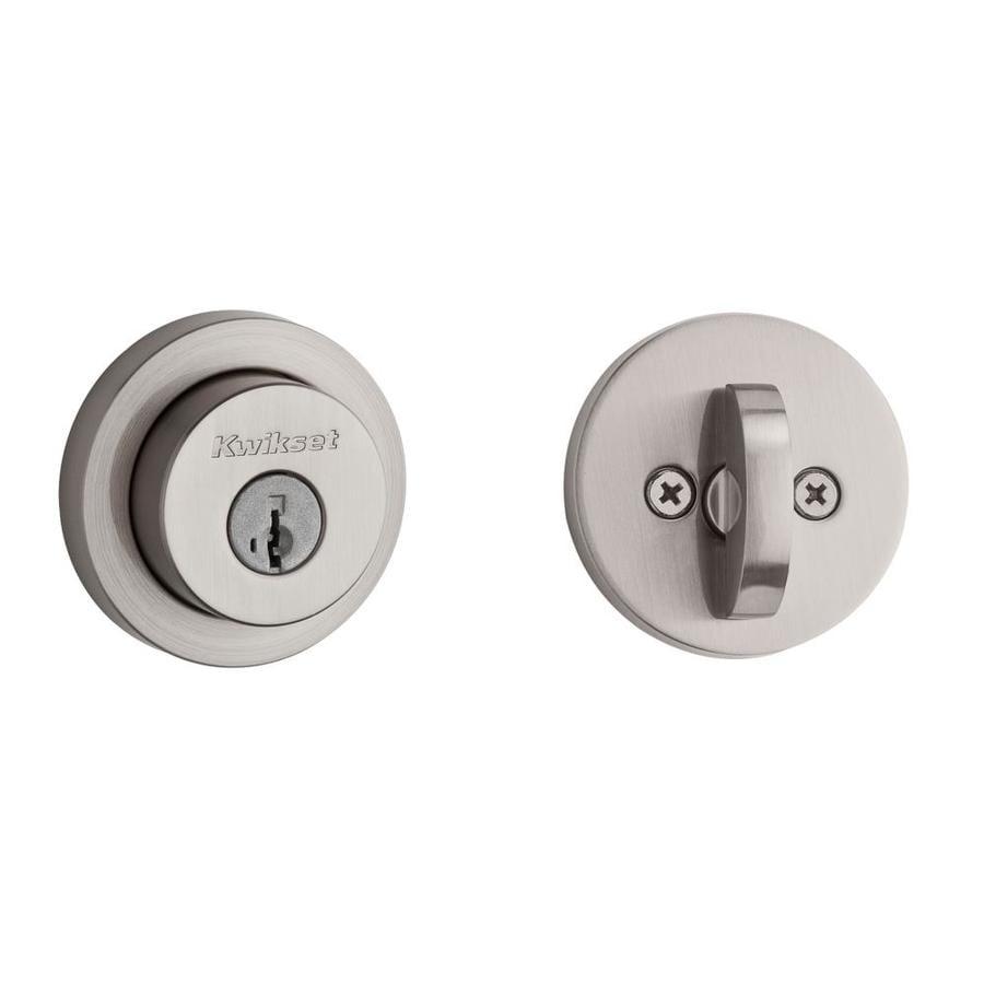 Kwikset Signature Milan SmartKey Satin Nickel Single-Cylinder Deadbolt