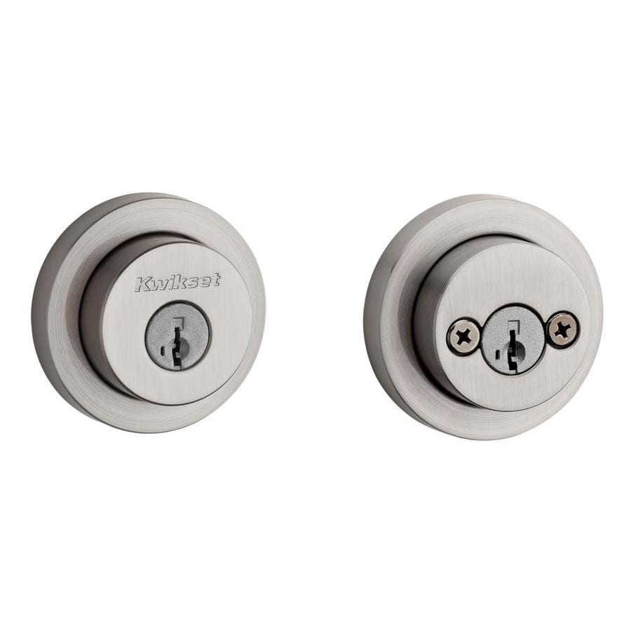 Kwikset Signature Milan SmartKey Satin Nickel Double-Cylinder Deadbolt
