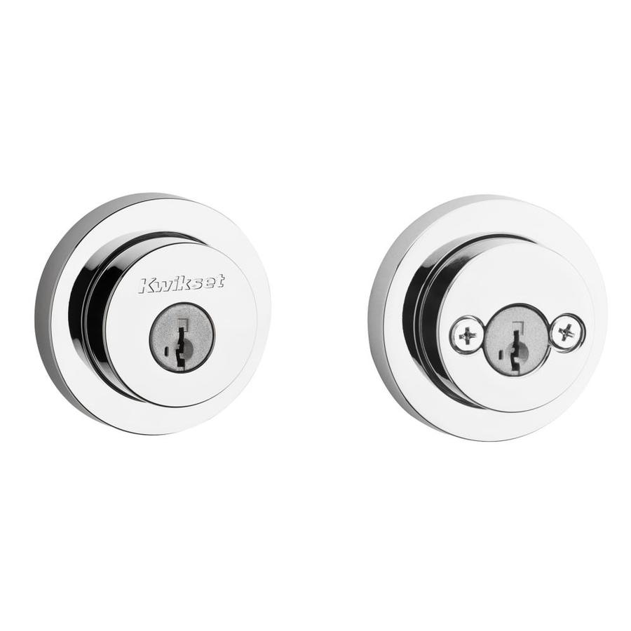 Kwikset Signature Milan SmartKey Polished Chrome Double-Cylinder Deadbolt