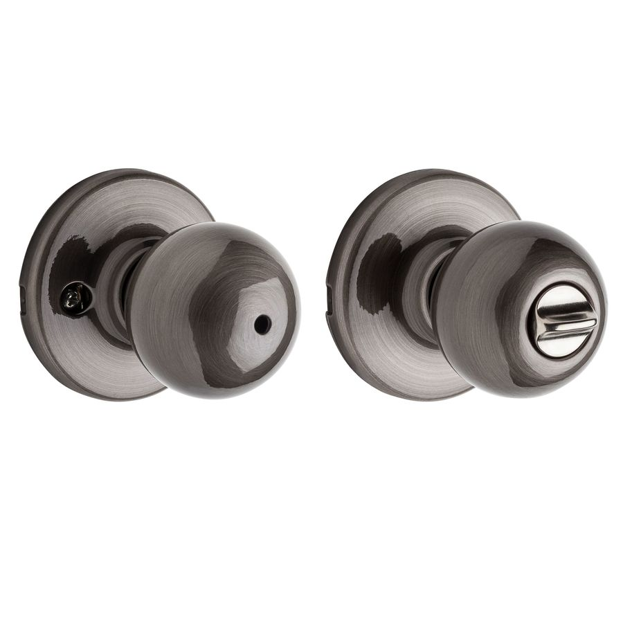 Kwikset Polo Antique Nickel Privacy Door Knob Single Pack