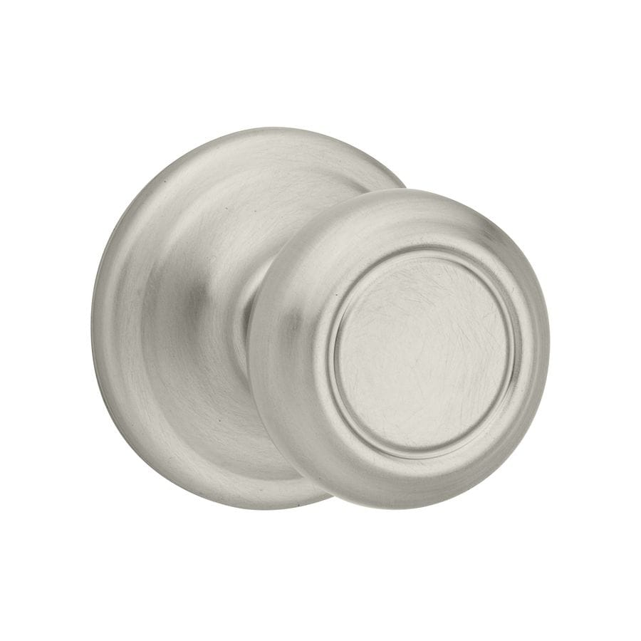 Kwikset Cameron Satin Nickel Passage Door Knob At Lowes Com