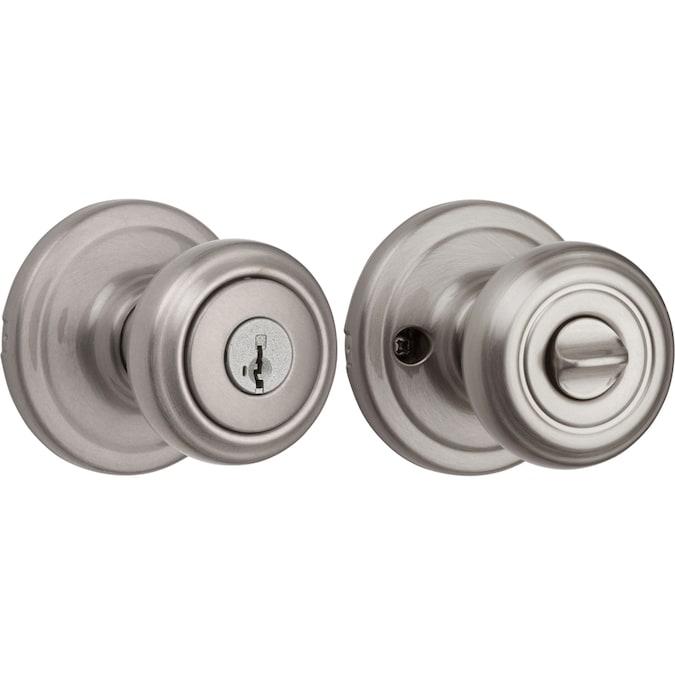 Kwikset Kwikset Signatures Cameron Satin Nickel Smartkey Keyed Entry Door Knob In The Door Knobs Department At Lowes Com
