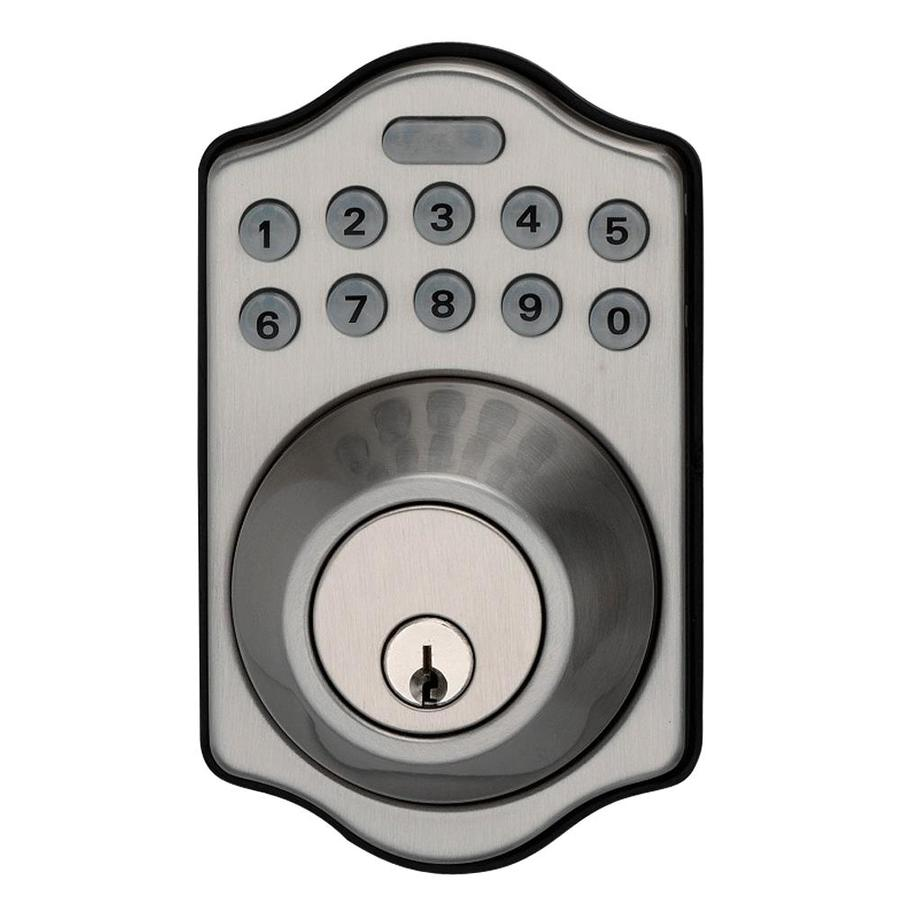 Kwikset Electronic Deadbolt Double Best Secret Wiring Diagram Auma Sa072 264 Satin Nickel Single Cylinder Motorized Entry Rh Lowes Com Latch Biometric Fingerprint Lock