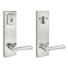 BALDWIN Spyglass Satin Nickel Keyed Entry Door Handleset With SmartKey