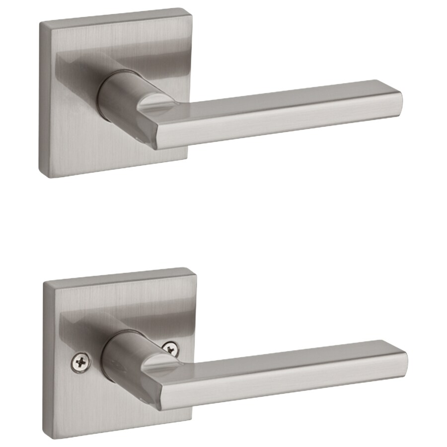 Shop Kwikset Halifax Satin Nickel Passage Door Handle At