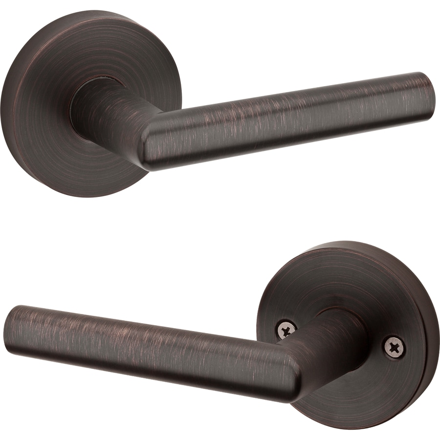 Beau Kwikset Milan Venetian Bronze Passage Door Handle