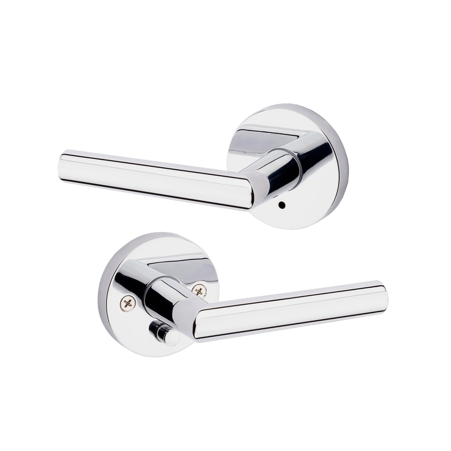 Kwikset Milan Polished Chrome Universal Turn Lock Privacy Door Lever