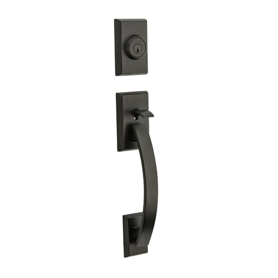 Shop Kwikset Tavaris Adjustable Venetian Bronze Entry Door
