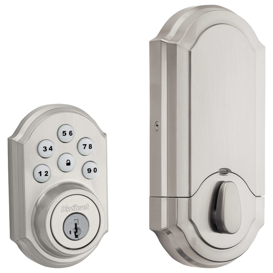 Shop Kwikset Smartcode 909 Smartkey Satin Nickel Single Cylinder