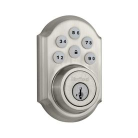 Kwikset SmartCode 909 Smartkey Single-Cylinder Motorized Electronic Entry Door Deadbolt with Keypad  sc 1 st  Loweu0027s & Shop Electronic Door Locks at Lowes.com