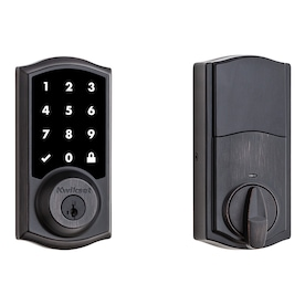 Kwikset Smartcode 916 Venetian Bronze Single-Cylinder Deadbolt 1-Cylinder Smartkey Lighted Keypad Built-In Zigbee