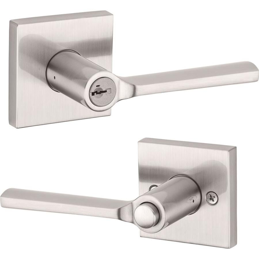 Kwikset Signature Lisbon Satin Nickel Keyed Entry Door Lever with Smartkey