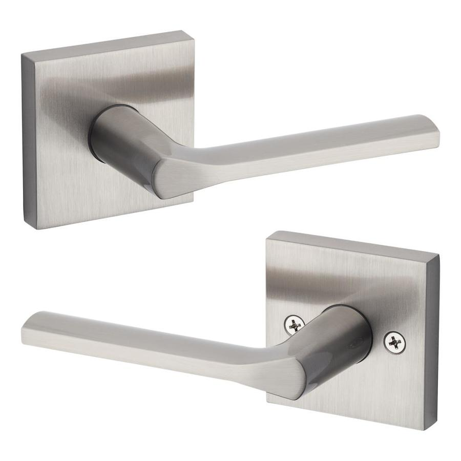 Kwikset Signature Lisbon Satin Nickel Universal Dummy Door Lever