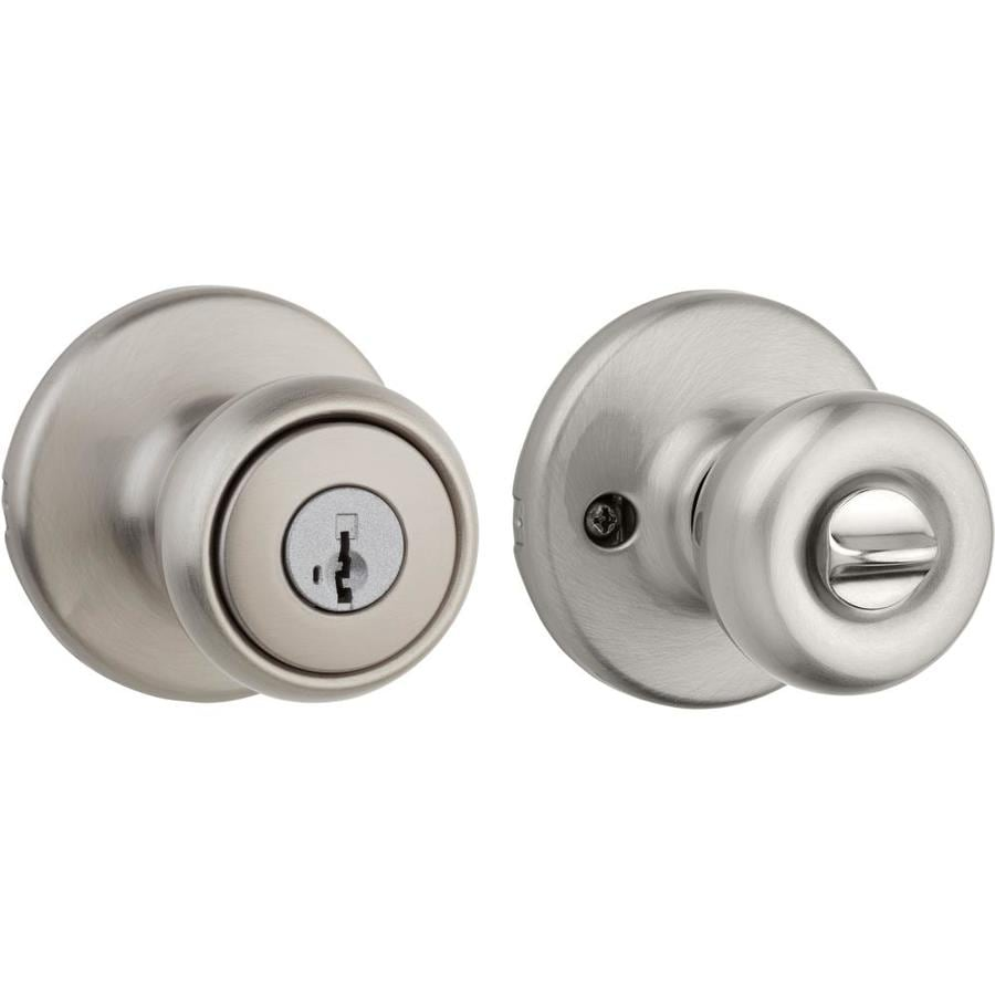 Kwikset Tylo SmartKey Satin Nickel Round Keyed Entry Door Knob