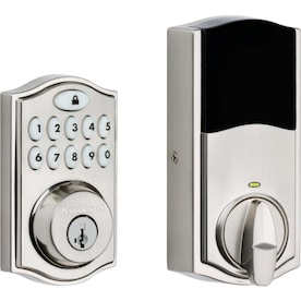 Kwikset Smartcode 914 Satin Nickel Single-Cylinder Deadbolt 1-Cylinder Smartkey Lighted Keypad Built-In Zigbee