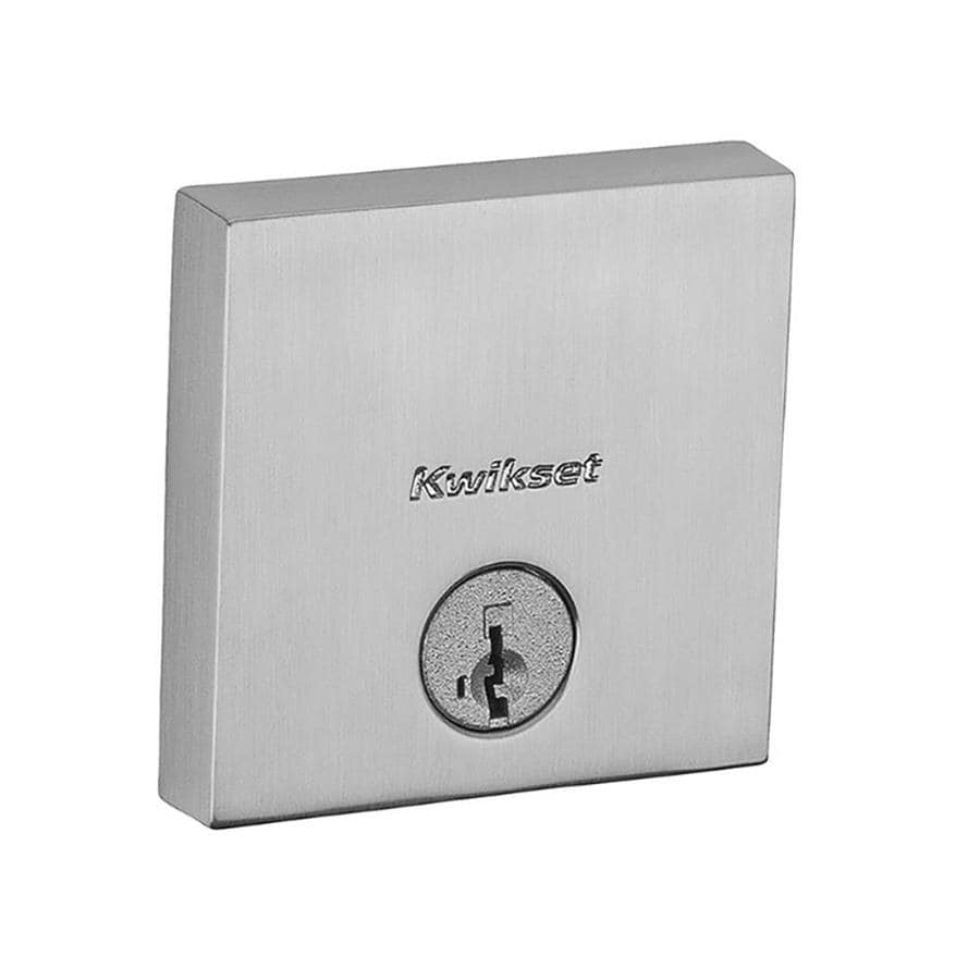 Kwikset Signature Downtown SmartKey Satin Nickel Single-Cylinder Deadbolt