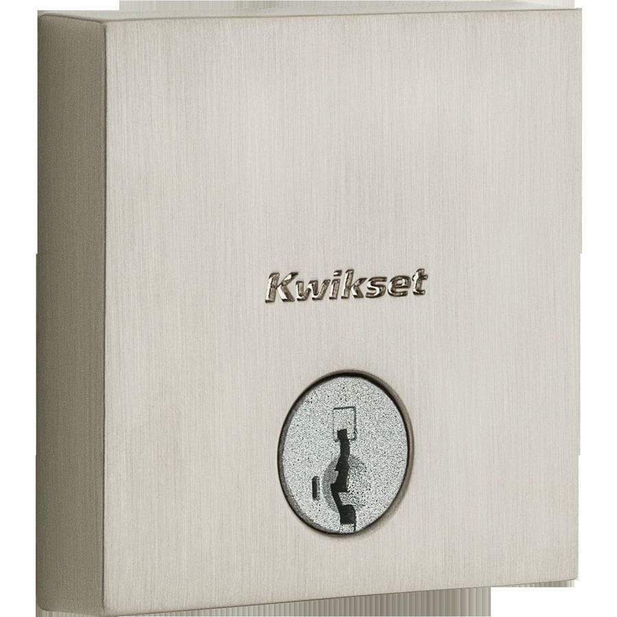 Kwikset Downtown SmartKey Satin Nickel Single-Cylinder Deadbolt