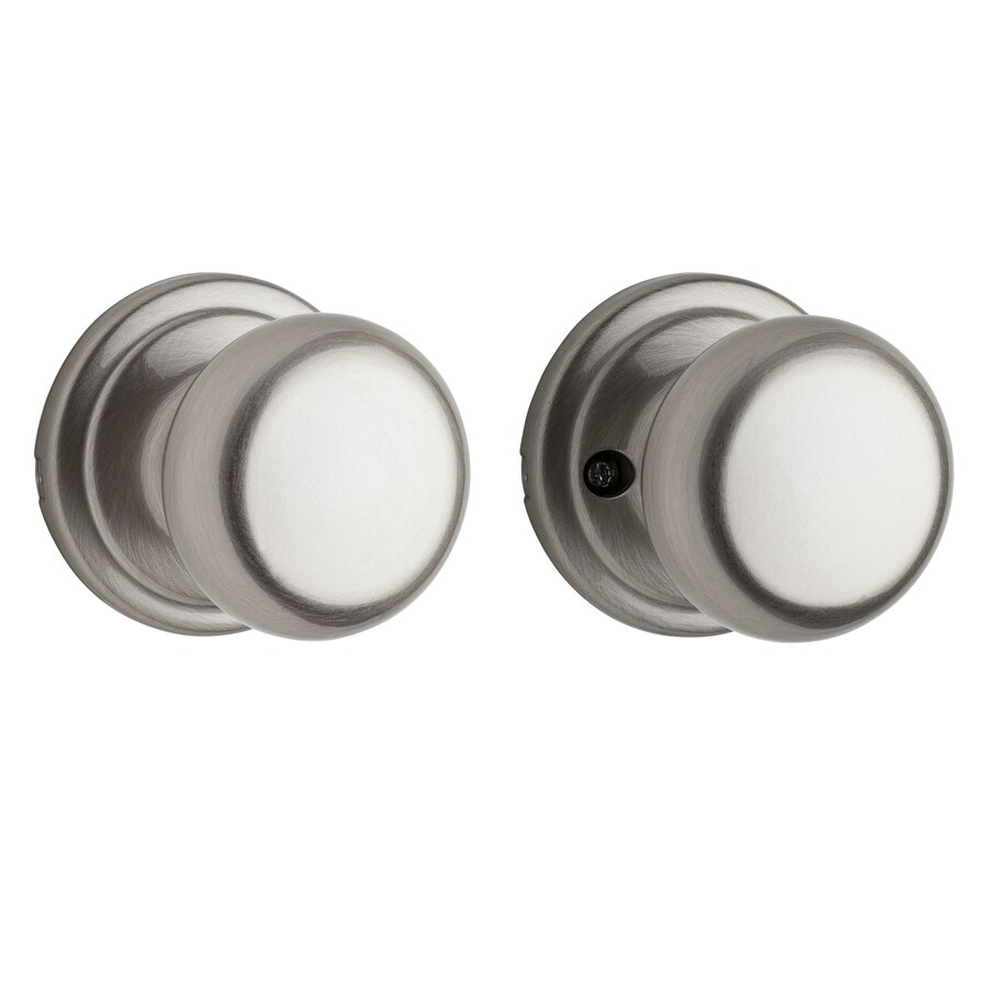Kwikset Signature Hancock Satin Nickel Round Passage Door Knob