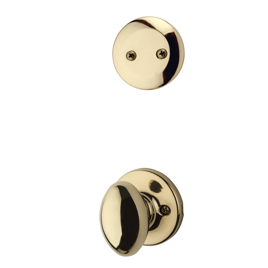 Kwikset Aliso 1-3/4-in Polished Brass Non-Keyed Knob Entry Door Interior Handle