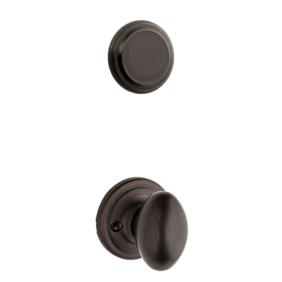 Kwikset Aliso 1-3/4-in Venetian Bronze Non-Keyed Knob Entry Door Interior Handle
