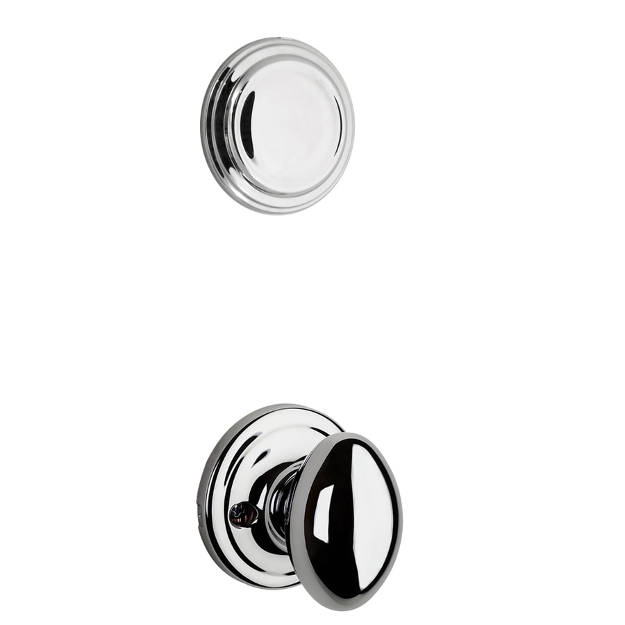 Kwikset Aliso 1-3/4-in Polished Chrome Non-Keyed Knob Entry Door Interior Handle