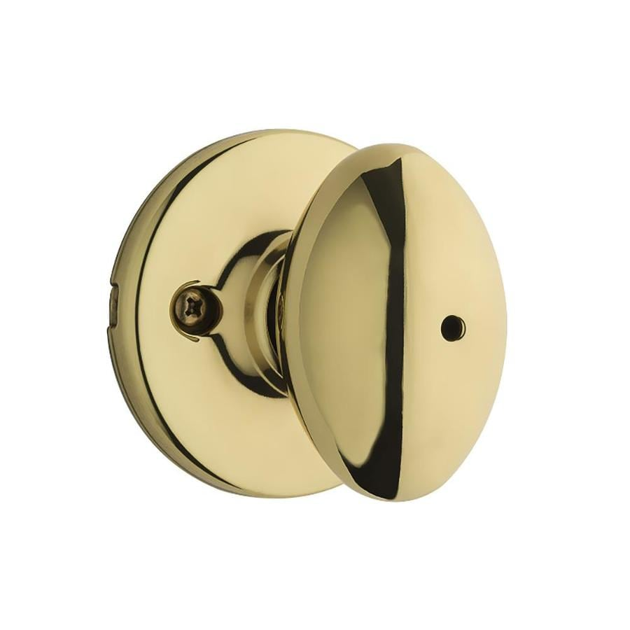 Kwikset Aliso Polished Brass Egg Turn Lock Privacy Door Knob