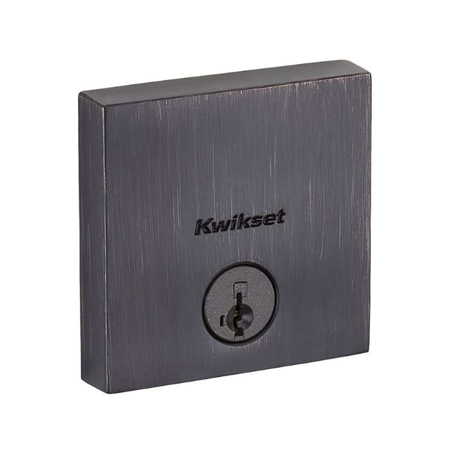 Kwikset Signature Downtown SmartKey Venetian Bronze Single-Cylinder Deadbolt