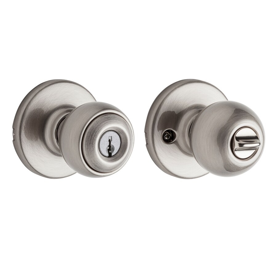 Kwikset Polo Traditional Satin Nickel Round Keyed Entry Door Knob