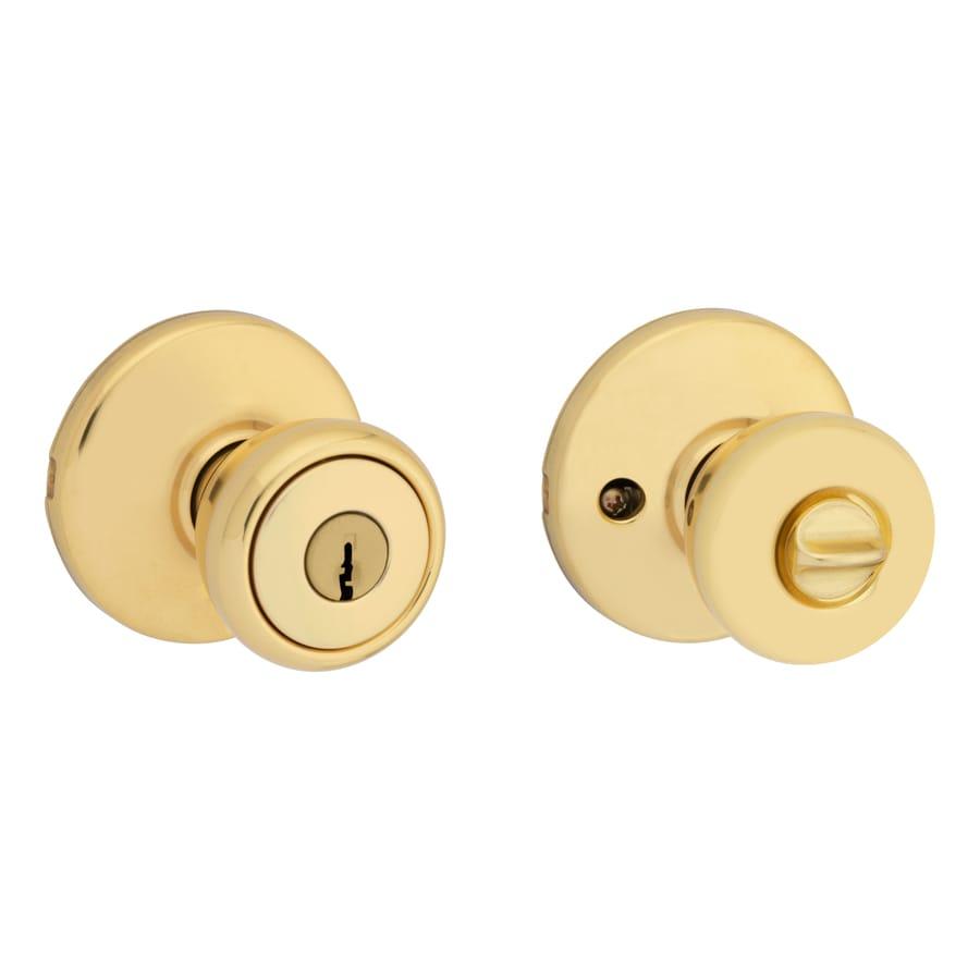 Kwikset Tylo Polished Brass Keyed Entry Door Knob