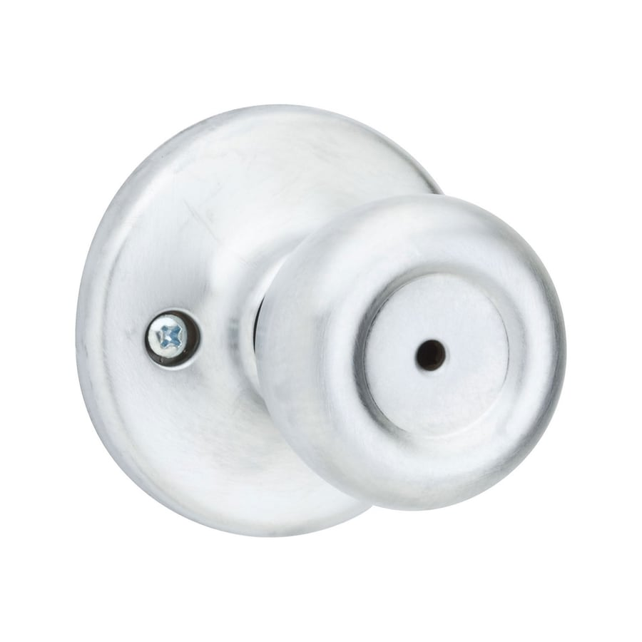 Kwikset Mobile Satin Chrome Tulip Turn Lock Privacy Door Knob