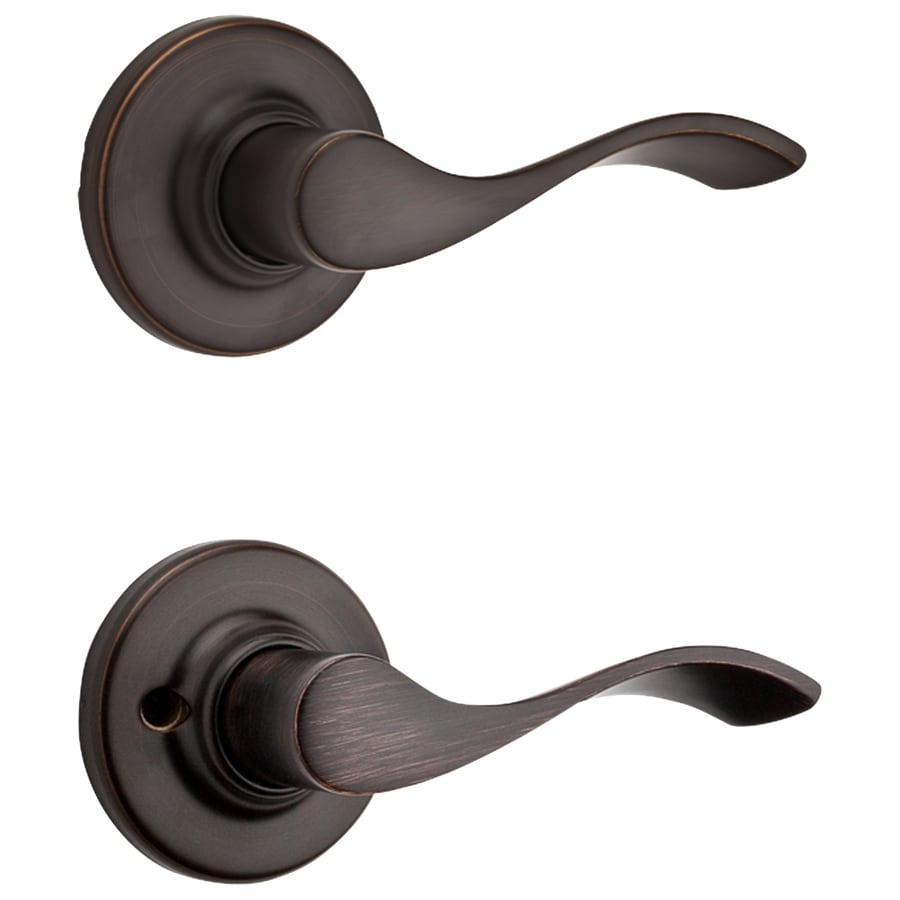 Shop Kwikset Balboa Venetian Bronze Passage Door Lever At