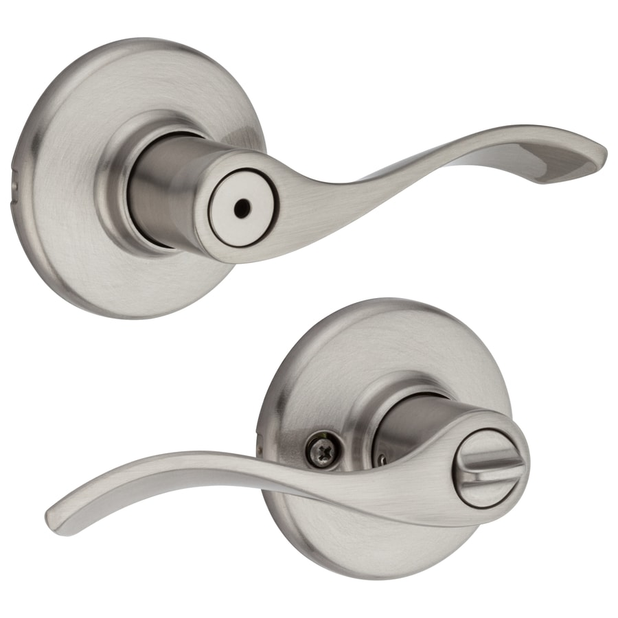 Shop Kwikset Balboa Satin Nickel Turn Lock Privacy Door Lever at ...