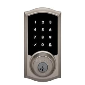 Kwikset Premis Satin Nickel Single-Cylinder Deadbolt with Smartkey and Lighted Keypad  sc 1 st  Lowe\u0027s & Shop Electronic Door Locks at Lowes.com