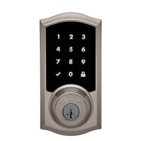 Kwikset Premis Satin Nickel Single-Cylinder Deadbolt with Smartkey and Lighted Keypad  sc 1 st  Loweu0027s & Shop Electronic Door Locks at Lowes.com