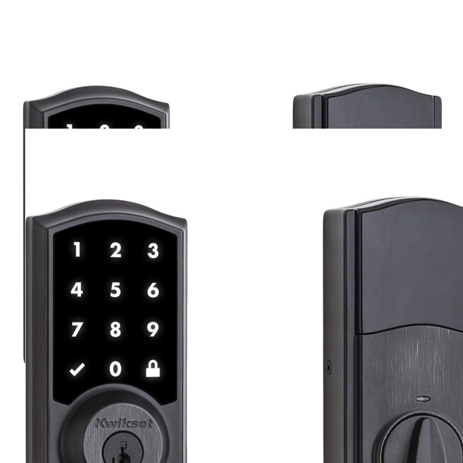 Kwikset 919 Premis SmartKey Venetian Bronze Single-Cylinder Motorized Electronic Entry Door Deadbolt with Touchscreen Keypad