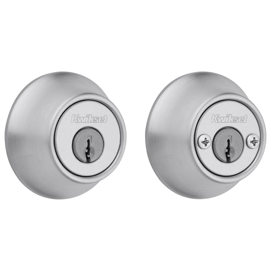 Kwikset 665 Satin Chrome Double-Cylinder Deadbolt
