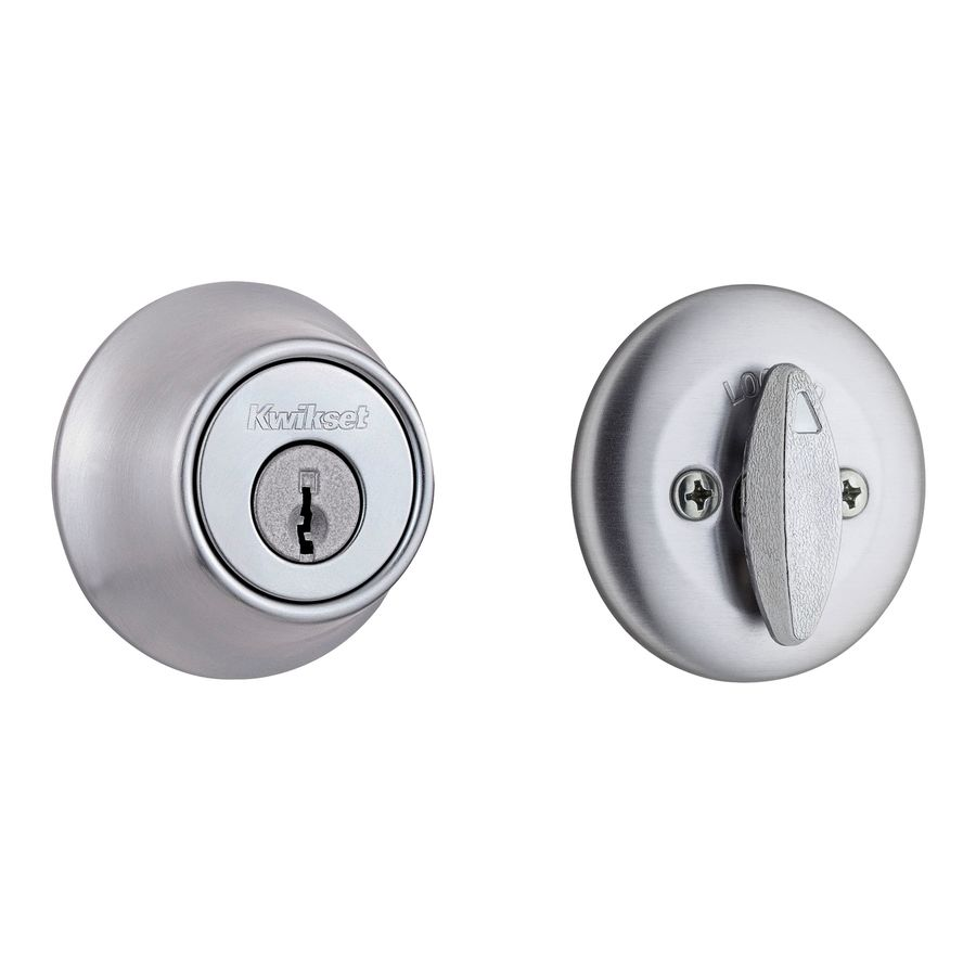 Kwikset 660 Satin Chrome Single-Cylinder Deadbolt